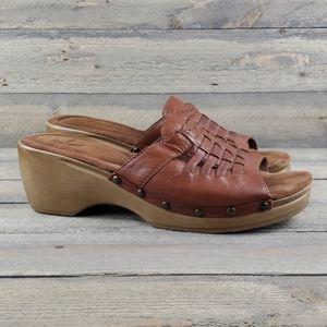 White Morning Crea Women's Leather Slide Sandals